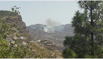 """Evacuadas la Cruz de Tejeda y Lagunetas (Gran Canaria) por el incendio en la zona que """"torna a agresivo"""""""