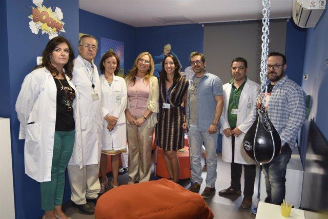 Responsables sanitarios y de la fundación visitan el nuevo espacio