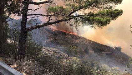 Desalojadas Cruz de Tejeda, Las Lagunetas, Cueva Grande y Calaretas y el incendio se extiende hacia Pico de Las Nieves