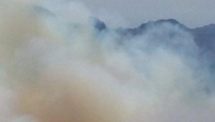 El incendio de la cumbre de Gran Canaria alcanza las 1.000 hectáreas quemadas y avanza hacia Los Pechos