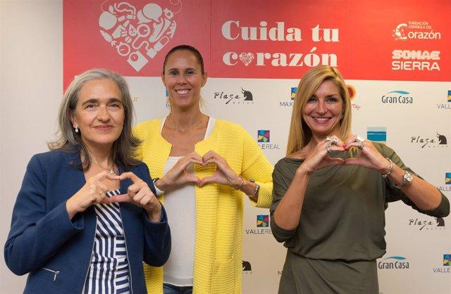 Amaya Valdemoro en un acto de la Fundación Española del Corazón