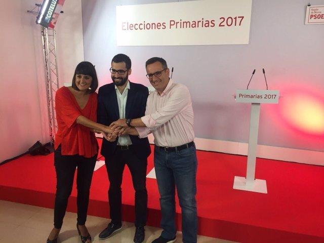 María González Veracruz, Francisco Lucas y Diego Conesa