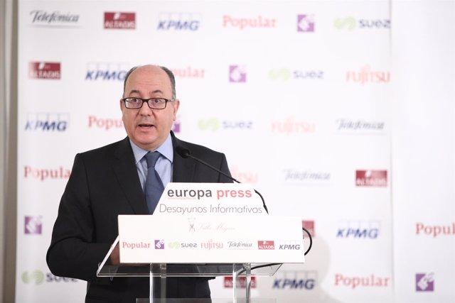 José María Roldán en el Desayuno Informativo de Europa Press