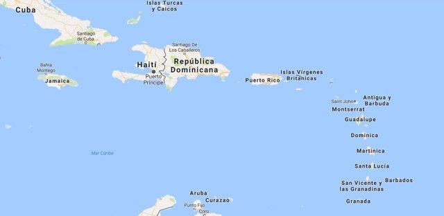 Mapa de las Antillas para ilustrar una noticia sobre la isla de Dominica
