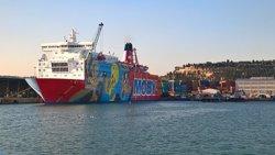 Atraca un segon vaixell de l'Estat al port de Barcelona per allotjar més reforços policials (ACN)