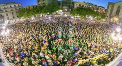 Més de 6.000 persones  es concentren al centre de Sabadell per rebutjar les actuacions de la Guàrdia Civil a Catalunya (ACN)