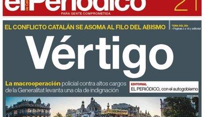Las portadas de los periódicos de hoy, jueves 21 de septiembre de 2017