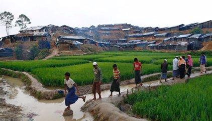 Cientos de budistas intentan bloquear un cargamento de ayuda humanitaria destinado a rohingyas en Rajine