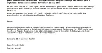 El Govern publica un encargo para digitalizar y actualizar el censo de Cataluña