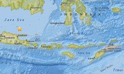 Registrat un terratrèmol de magnitud 5,7 al nord de les costes de Java(Indonèsia) (USGS)