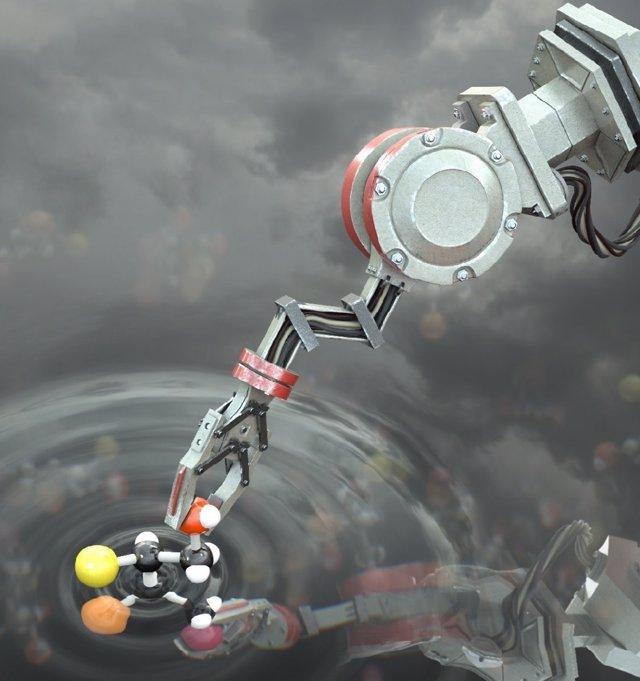 Recreación artística del robot molecular