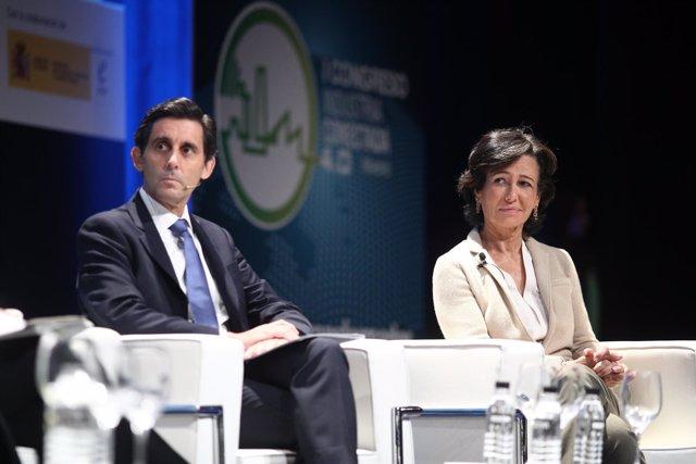 Ana Botín y Álvarez-Pallete en el I Congreso de Industria Conectada 4.0