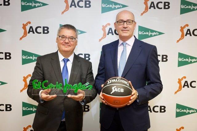 Francisco Roca, presidente de la ACB y Jesús Nuño de la Rosa, consejero de El Co