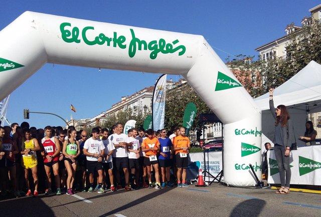 Ruth Beitia amadrina la carrera del circuito de running de El Corte Inglés