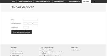 Puigdemont anuncia el link de internet que concreta dónde puede votar cada catalán
