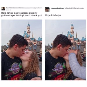 James Fridman, vuelve a 'trolear' con photoshop