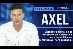 Facebook Live con Axel este lunes 25 de septiembre a las 17.00 horas en 'Notimérica'