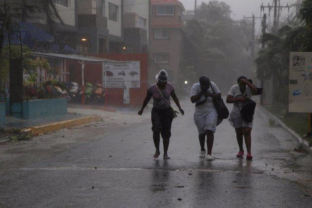 La llegada del huracán 'María' a Punta Cana