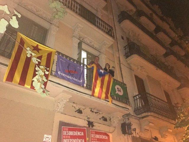 Cacerolada en Barcelona por el 1-O
