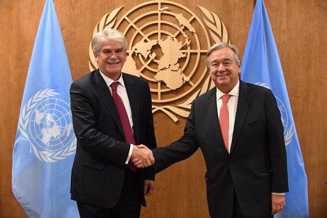 Alfonso Dastis con Antonio Guterres
