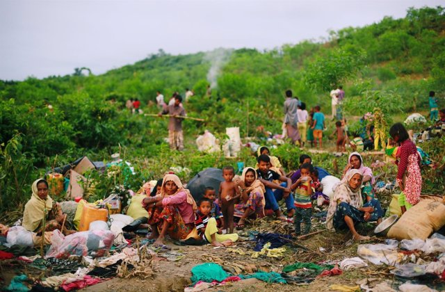 Refugiados rohingya en el campo de Cox's Bazar en Bangladesh