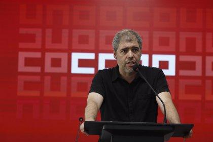 Sordo (CC.OO.) pide la retirada del referéndum en Cataluña y el cese de las acciones judiciales y policiales