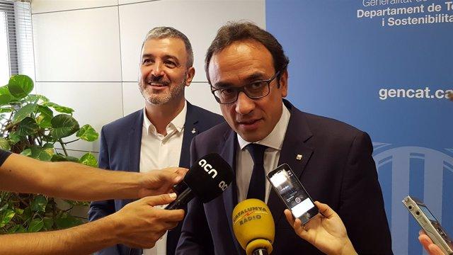 Jaume Collboni y Josep Rull
