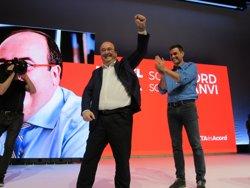 1-O.- Pedro Sánchez (PSOE) torna a Catalunya aquest dissabte per tercera vegada en dues setmanes (EUROPA PRESS)