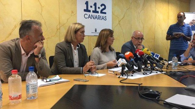 Ángel Víctor Torres, Mercedes Roldós, Nieves Lady Barreto y Antonio Morales