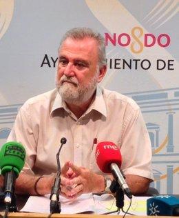 El portavoz municipal de IU, Antonio Rodrigo Torrijos