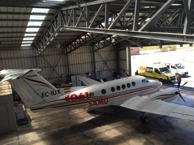 Avión ambulancia del 061 de Baleares