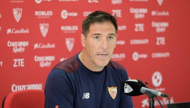 Eduardo Berizzo (Sevilla) en rueda de prensa