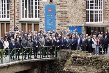 El Rey preside el centenario de la hidráulica de La Malva, origen de EDP en España