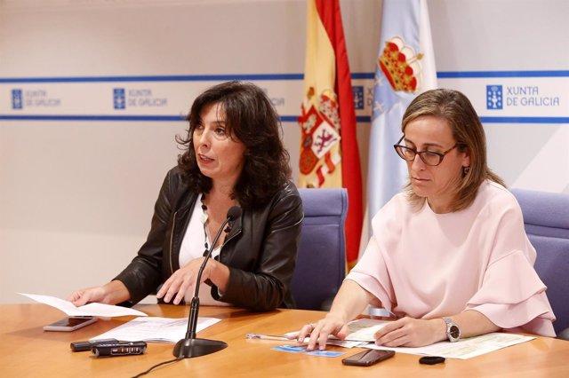 La conselleira Ethel Vázquez con la directora de la Amtega, Mar Pereira