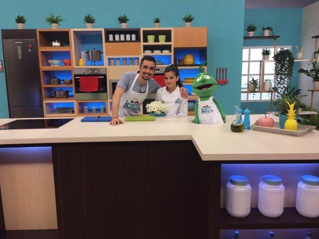 Canco Rodríguez y Paula Alos en Un, Dos, ¡Chef!