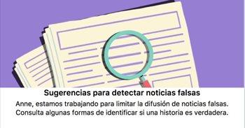Facebook introduce una herramienta para enseñar a identificar las noticias falsas