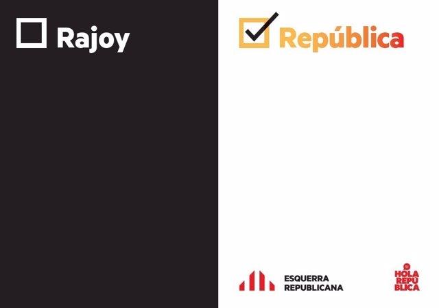 ERC lanza un nuevo lema de campaña para el referéndum del 1-O