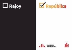 ERC llança un nou lema de campanya després de les detencions: 'Rajoy o República' (EUROPA PRESS)