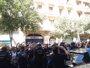 Foto: La Policía disparó balas de fogueo para abrirse paso entre los independentistas que protestaban ante la sede de la CUP