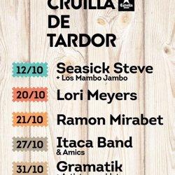 El Cruïlla de Tardor suma Ítaca Band en un concert el 27 d'octubre (CRUÏLLA DE TARDOR)