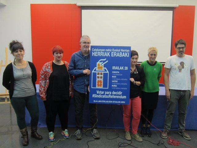 Sindicatos vascos apoyan el referéndum