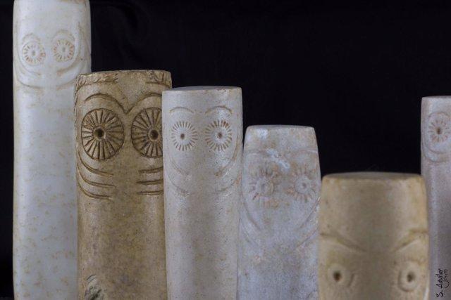 Piezas del Museo de Huelva que se desplazarán a una muestra en Madrid.