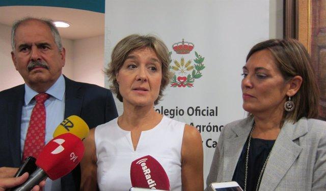 Isabel García Tejerina, durante el acto en Valladolid.