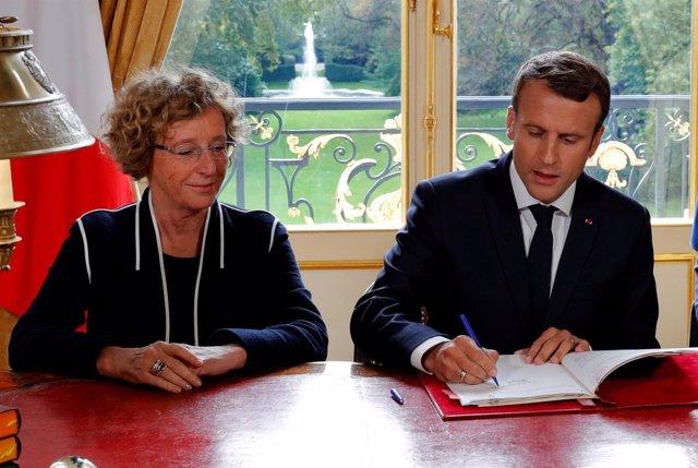 El presidente de Franciam Emmanuel Macron
