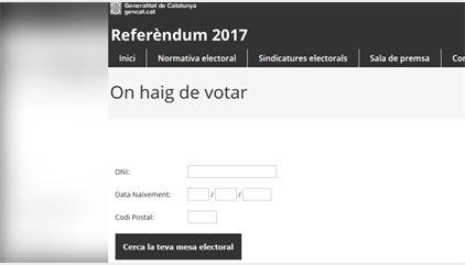 El TSJC ordena deshabilitar la web que indica dónde puede votar cada ciudadano