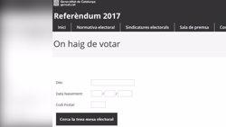 La jutgessa ordena deshabilitar la web que indica on pot votar cada ciutadà (EUROPAPRESS)
