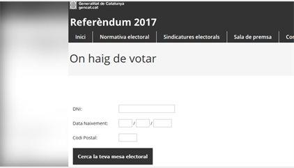 La jutgessa ordena deshabilitar la web que indica on pot votar cada ciutadà