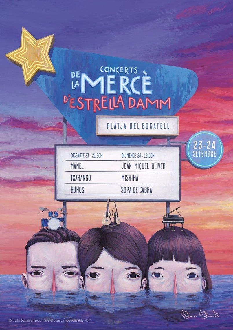 Estrella Damm celebrará la Mercè con conciertos y actividades de sábado a lunes