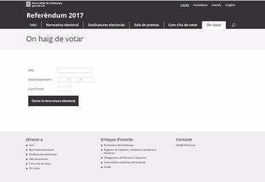 Puigdemont difon un nou enllaç per consultar on pot votar cada català (EUROPA PRESS)
