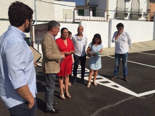 Visita del delegado territorial de Medio Ambiente , José A. Crespo, a Almonte